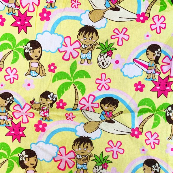 M'doridori Fabric Gift Wrap in Yellow Keiki