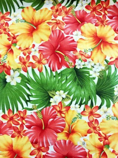 M'doridori Fabric Gift Wrap in Natural Hibiscus