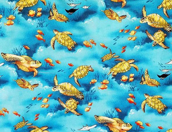 M'doridori Fabric Gift Wrap Underwater Honu (Turtle)