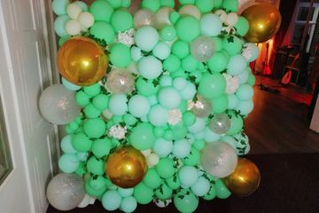 Organic photo both balloon wall hire london