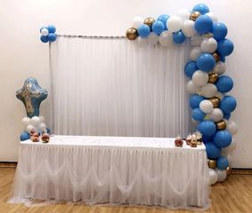 head table decorations for a baby christening