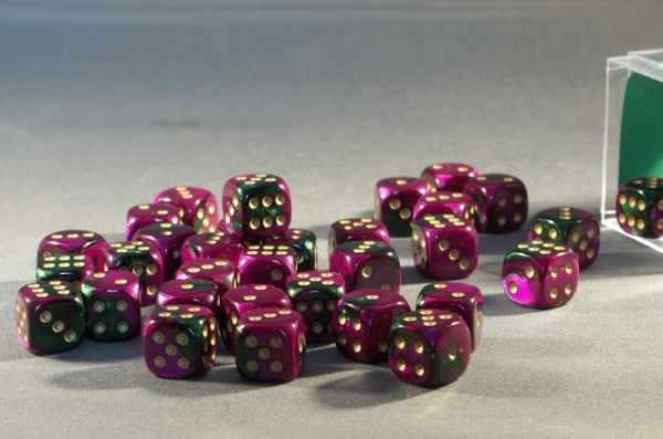 Chessex Gemini 12mm d6 Dice Block