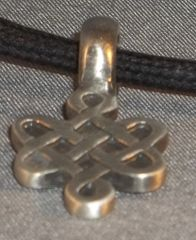 Celtic Knot Pewter Pendant on Neck Cord