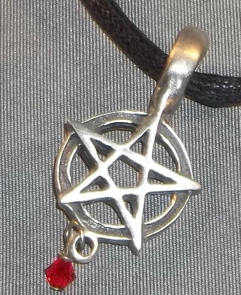 Pentagram with Bead Drop