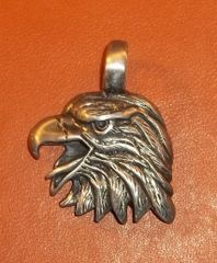 Eagle Head Pewter Pendant on Neck Cord