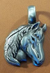Horse Head Pewter Pendant on Neck Cord