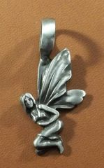 Fairy Pewter Pendant on Neck Cord