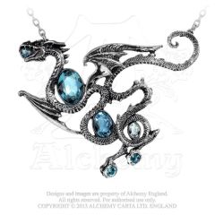P646 - Aqua Dragon Necklace