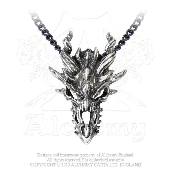 P625 - Dragon Skull Pendant