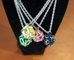 Chainmail Dice Cage Necklace