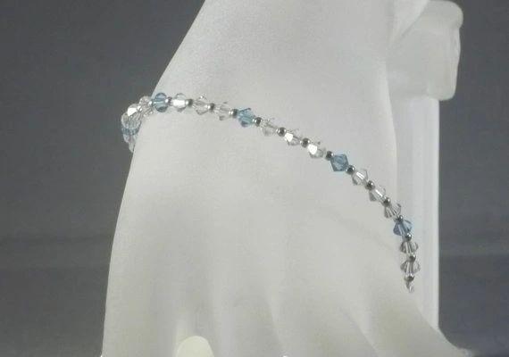 Frozen Ice Swarovski Crystal and Sterling Silver Bracelet