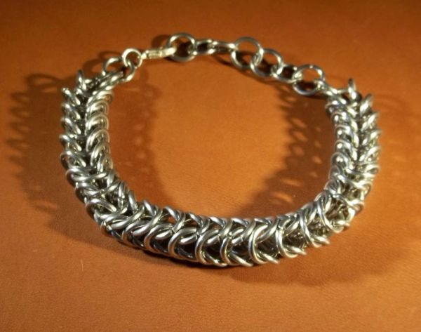 Stainless Steel Chainmail Box Chain Bracelet