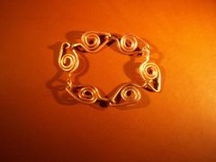 Naruto Leaf Copper Bracelet