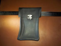 Large Leather Belt Pouch