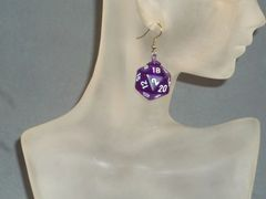 Dice Earrings Made with Chessex Dice