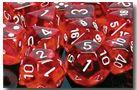 Chessex Translucent Polyhedral 7-Die set