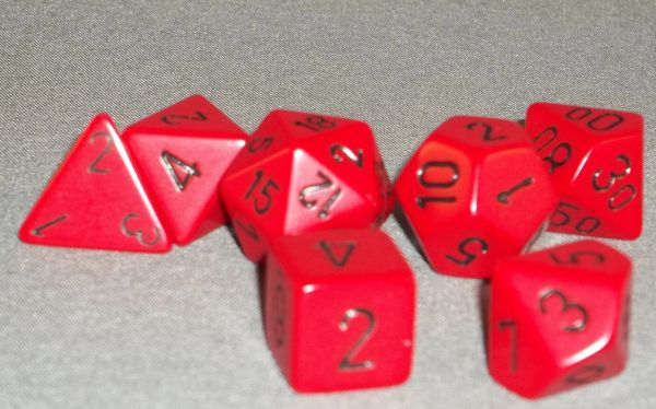 Chessex Opaque Polyhedral 7-Die set