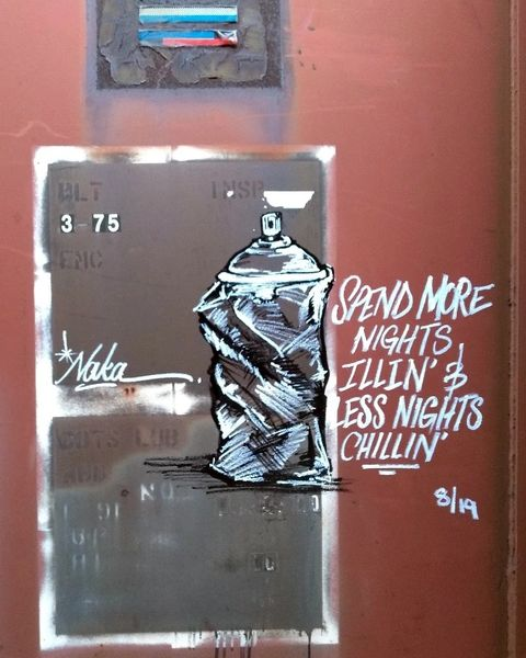 "Canvas Print ""Spend More Nights Illin'"""