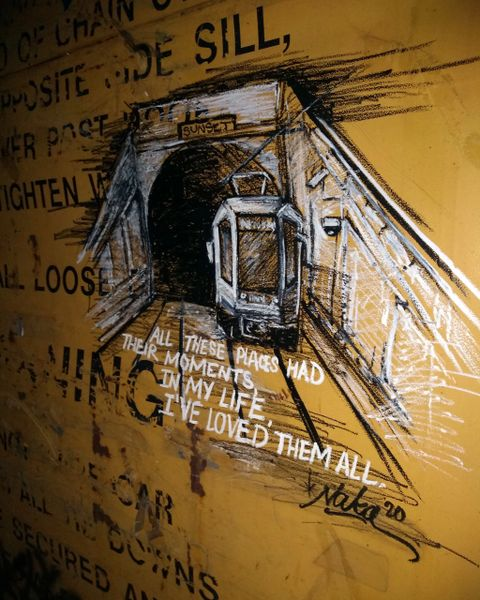 "Canvas Print ""N-Judah MUNI Tunnel"" Limited Edition"