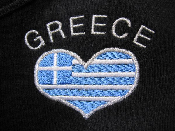 Greece flag embroidered t-shirt