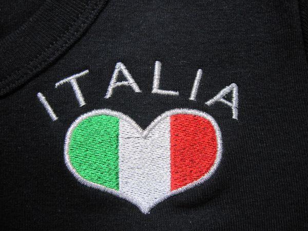 Italia flag embroidered t-shirt