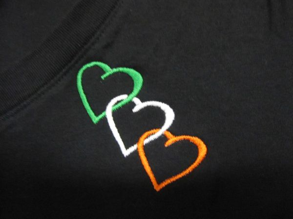 Ladies T-Shirt with 3 Hearts