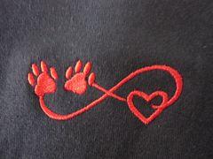 Infinite Paw Print Heart