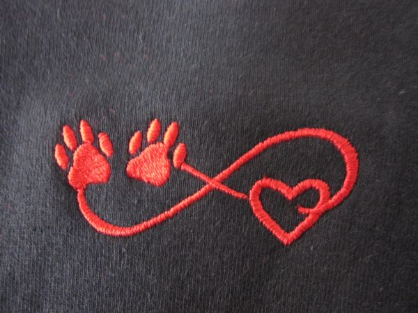 Infinite Paw Print Heart