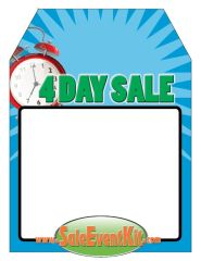 4 Day Sale Rear View Mirror Hang Tag (50 Pack)