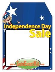 4th of July / Independence Day Sale Rear View Mirror Hang Tag (50 Pack)