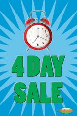 4 Day Sale Glossy Poster