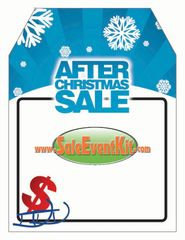 After Christmas Sale Rear View Mirror Hang Tag (50 Pack)
