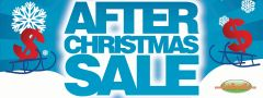 After Christmas Sale Vinyl Banner - 3' x 8'