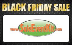 Black Friday Sale Employee Name Tags (40 pack)
