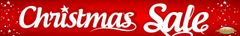 Christmas Sale Large Vinyl Banner - 3'x20'