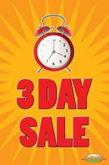 3 Day Sale Glossy Poster