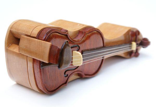 Stratavarious Violin Handemade Puzzle Box
