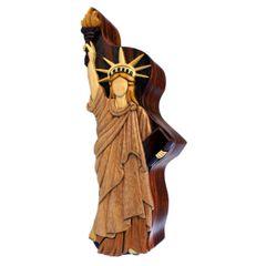 Statue Of Liberty Wooden Secret Puzzle Box