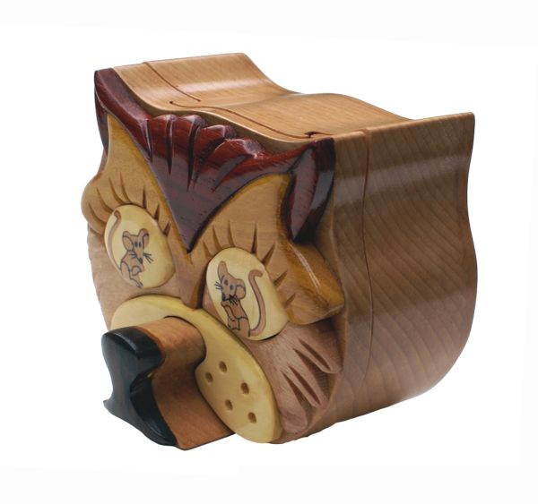 Cat & Mouse Puzzle Box with Compartment