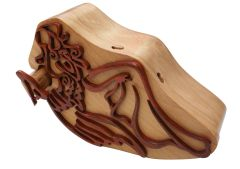 Angel Tribal Art Wooden Secret Puzzle Box