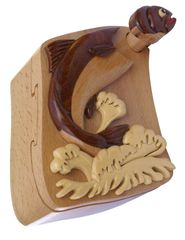 Salmon Wooden Secret Puzzle Box