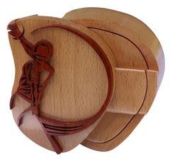 Baseball Wooden Secret Puzzle Box