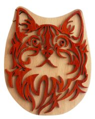 Cat Wooden Secret Puzzle Box