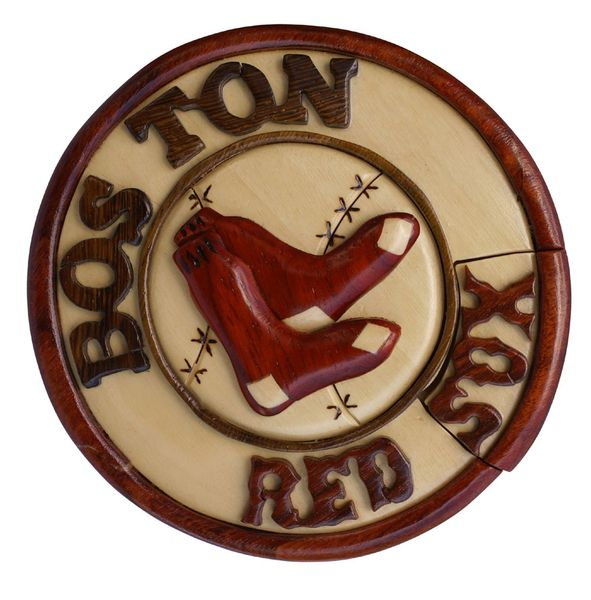 Boston Redsox Wooden Secret Puzzle Box