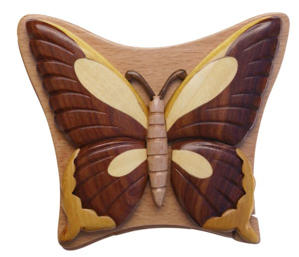Butterfly Puzzle Box with compartment