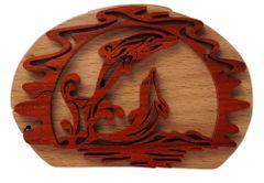 Dancing Dolfin Wooden Secret Puzzle Box