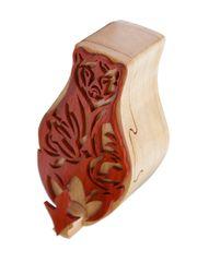 Kodiak Bear Tribal Art Wooden Secret Puzzle Box