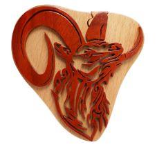 Mountain Goat Wooden Secret Puzzle Box
