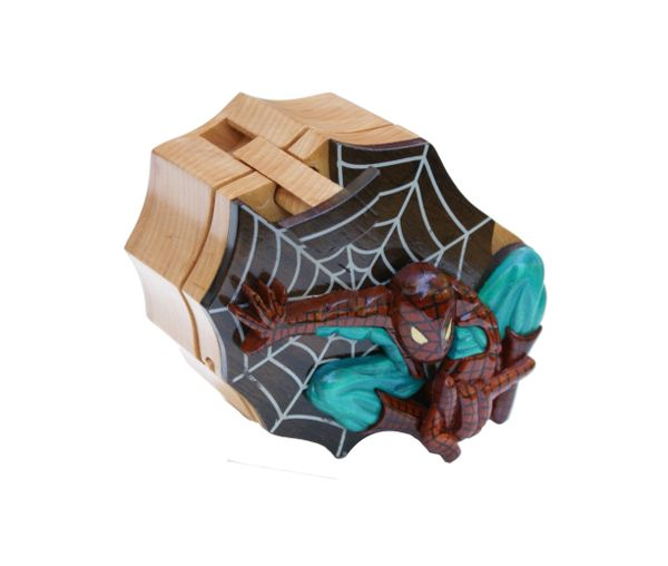 Spiderman Wooden Secret Puzzle Box
