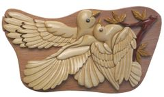 Love Birds Handmade Puzzle Box